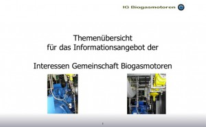 IG Biogasmotoren Videos im YouTube Kanal