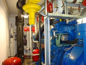 Datenaufnmahme bei V12 Biogasmotor mit 600 kw el