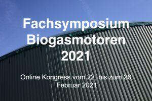 Online Kongress Fachsymposium Biogas 2021